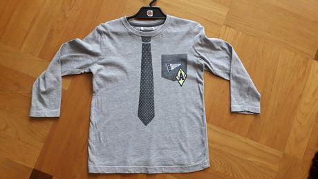 Bluzka dla chłopca z krawatem elegancka r.110/116 do przedszkola szara