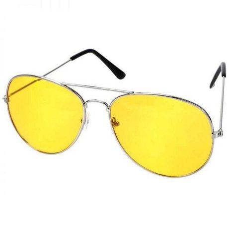 Очки водительские желтые Антиблик Антифары Авиаторы для водителей