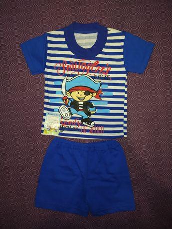 Костюмчик на мальчика шортики, футболка, костюм на лето