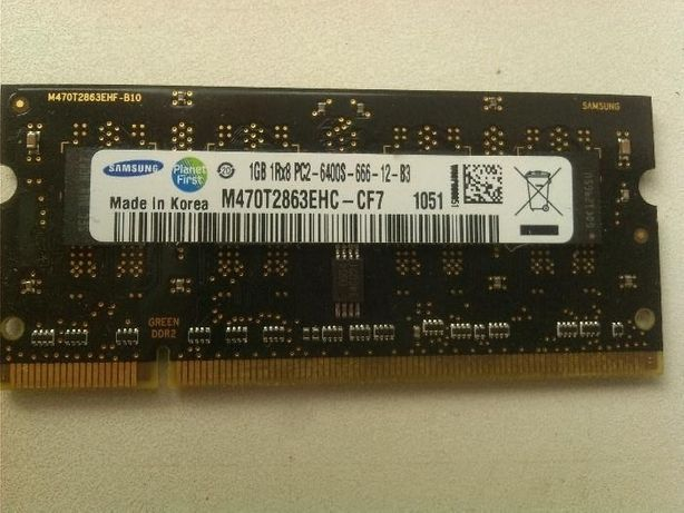 Samsung 1 Gb DDR2 PC2-6400S (SoDimm 200-pin)