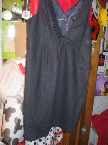 платье черный сарафан демисезонный шерсть 12-14 44-46 S-М ATMOSPHERE