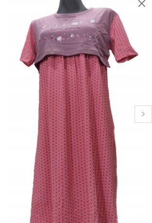 BAWEŁNIANA koszula nocna dla MAM karmiących roz. L