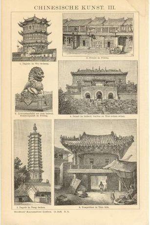 ARCHITEKTURA III - BUDOWLE oryginalne XIX w. grafiki do wystroju