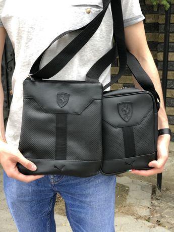 Чоловіча барсетка сумка через плече спортивна сумка puma ferarri