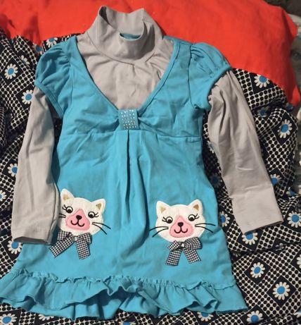 Туника-платье с декором