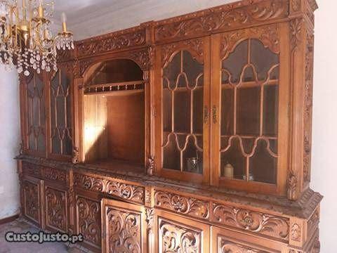 Sala renascençia completa mesa 8 cadeiras mais sofá Gandra - imagem 1