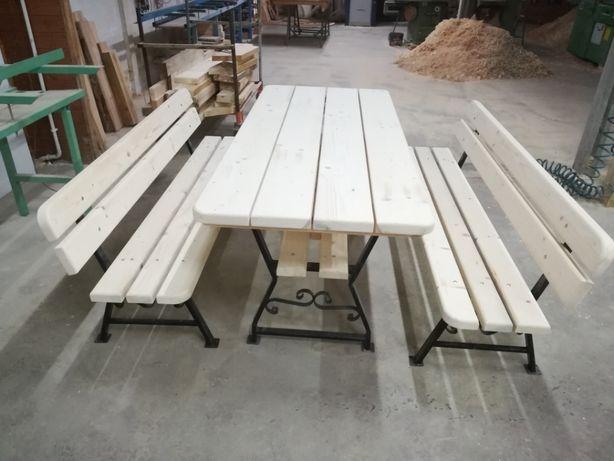 Zestaw ogrodowy, stół, ławki, meble ogrodowe,