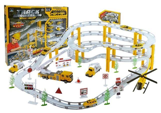Tor Samochodowy Rail Racing Metalowe Autka 12km/h 1472