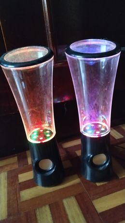 Colunas Water speakers RGB Gaming