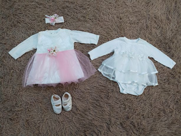 Праздничные платья для новорожденной девочки 0-3 месяца