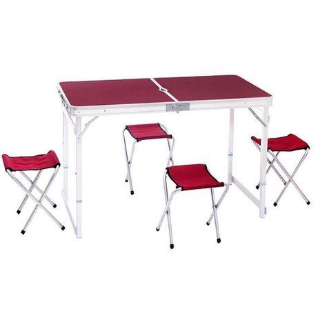 Усиленный Стол для пикника +4 стула, складной стол - чемодан