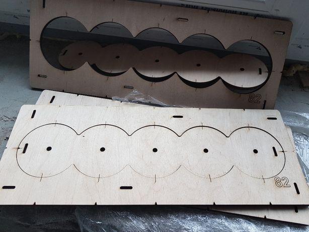 Шаблон, Кондуктор для сверления подрозетников, 82 диаметр 5 отверстий.