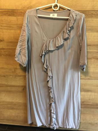 Sukienka liliowa jedwabna Noa Noa rozmiar XL
