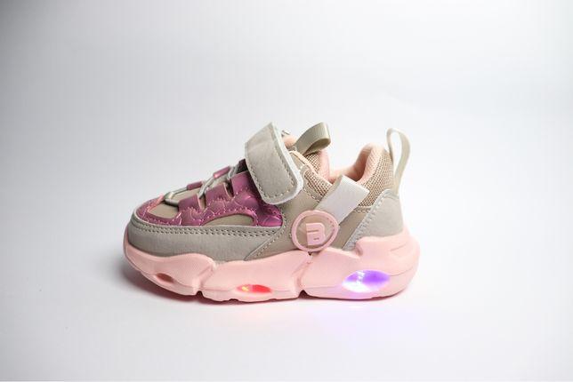 Кроссовки  с подстветкой для девочки.  (22-31)