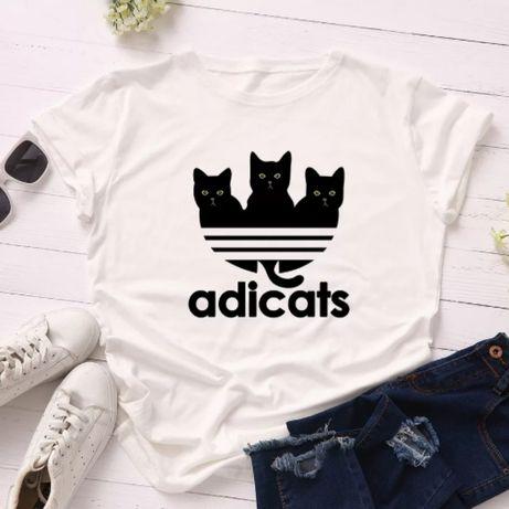 Koszulka bluzka t-shirt koty kotki czarne biała S-XXXL
