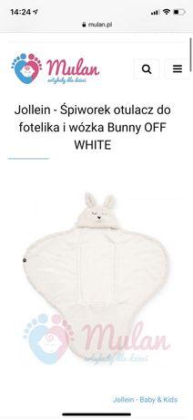 Śpiworek/rożek/otulacz Jollein Bunny OFF WHITE