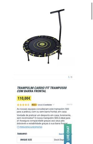 Trampolim Cardio Fit TRAMPO500 com barra frontal