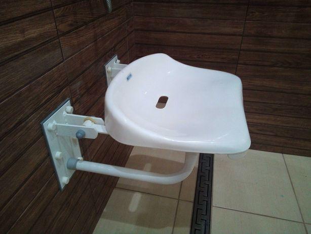 siedzisko prysznicowe składane + poręcz