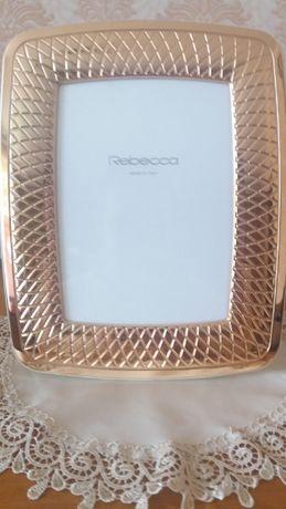 Рамка для фото в золоте 18 k. Rebecca. Италия