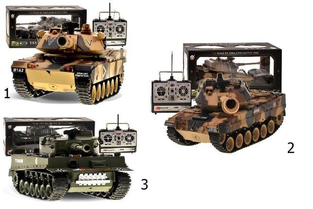 Czołg zdalnie sterowany German TIGER +STRZELA kulkami +Akumulator