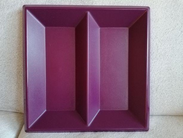 Patera tacka fioletowa kolekcja Tupperware 36x36x4 cm