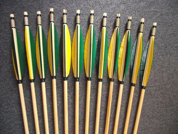 50-55 świerk nr 536 Komplet strzał do łuku strzały strzała drewniana