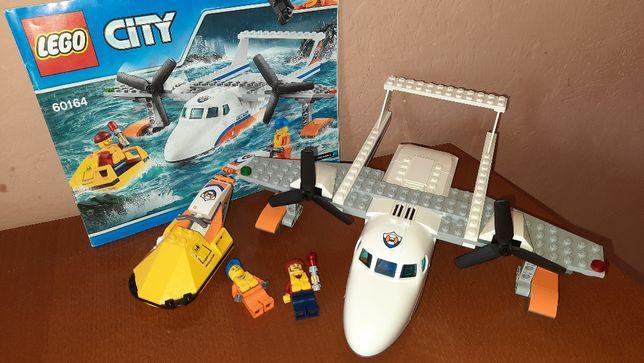 Lego City 60164 Спасательный самолет береговой охраны Лего Сити
