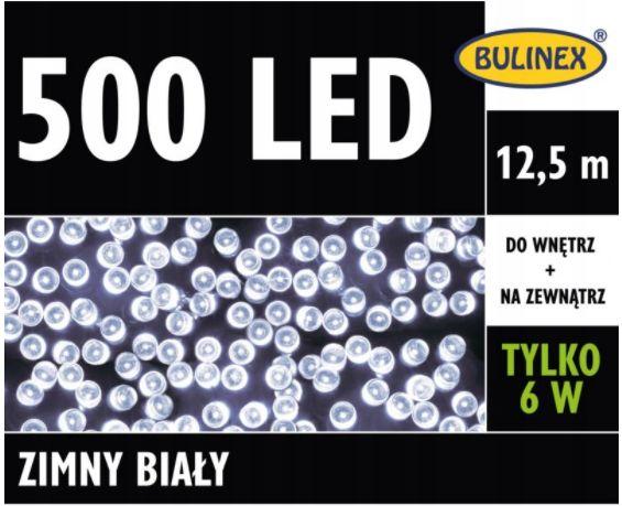 Lampki LED 500L Z zasilaczem, zimny biały 13-452