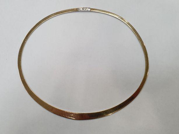 Wyjątkowa złota kolia damska/ 585/ 32.44 gram/ ~~ 45cm/ Żmijka