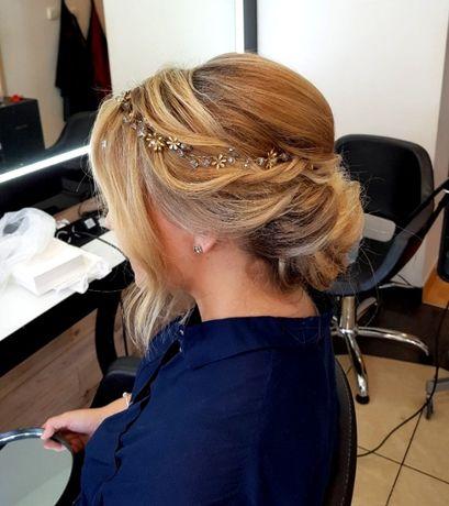 Ozdoba do włosów ślubna wianek kryształki swarovski Decolove