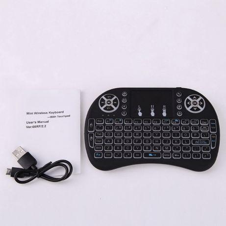 Клавиатура Rii i8 mini мышь, air mouse подсветка, аккумулятор, тачпад