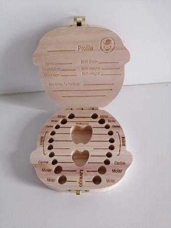 Pudełko szkatułka na zęby mleczne, język angielski