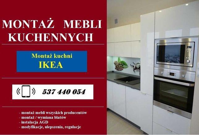 składanie mebli - montaż mebli kuchennych IKEA AGATA BRW - montaż AGD