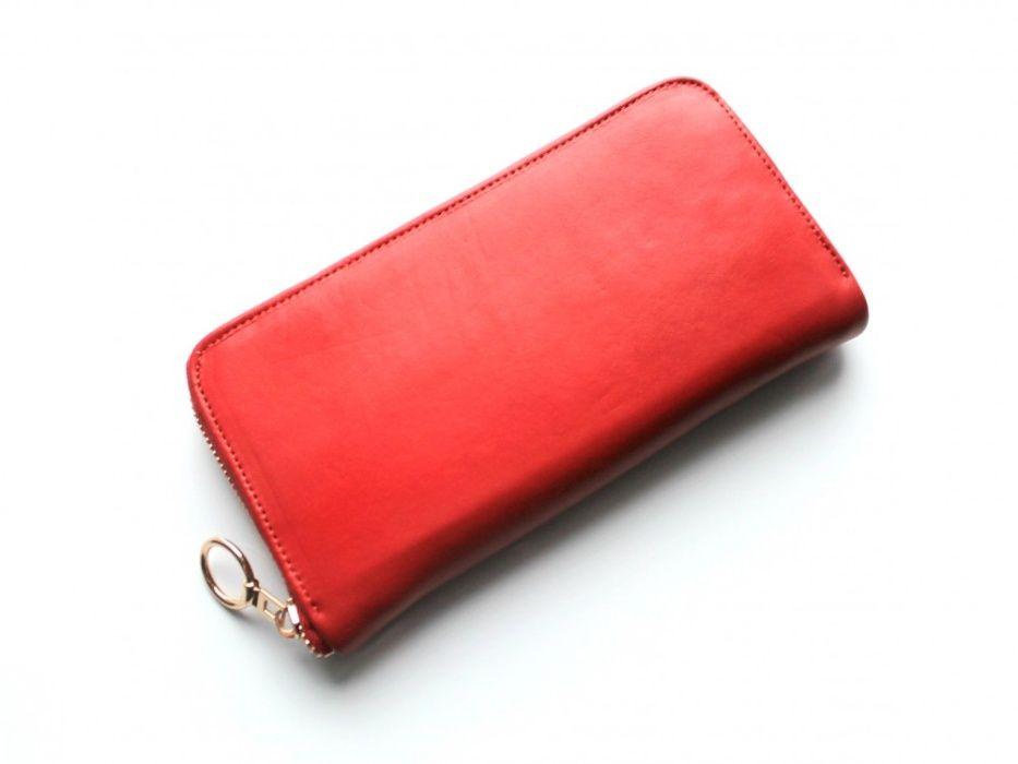 Женский кошелек из натуральной кожи красный, черный, белый. Кривой Рог - изображение 1