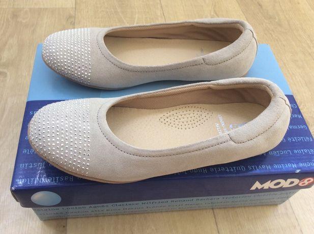 Туфли  балетки замшевые mod8, 33