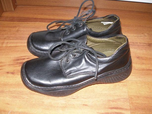 Skórzane buty wyjściowe,trzewiki do komunii roz 34