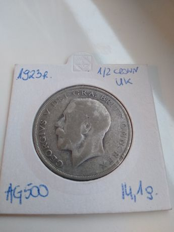 Half crown 1923 Georg V Wielka Brytania  Ag