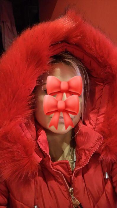 Płaszcz 38 M zimowy długa kurtka puchowa nowy czerwony płaszczyk Dzierżoniów - image 1