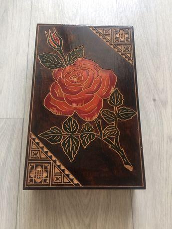 Шкатулка деревянная. СССР.