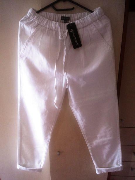 Spodnie lniane białe, Greenpoint rozm.36/38