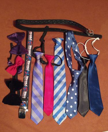 Krawat muszka pasek chłopięce