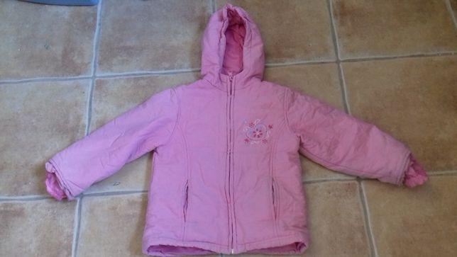 Różowa lekka kurtka dziewczęca na wiosnę/jesień 110 cm 5-10-15