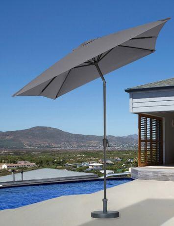 Parasol ogrodowy, 200x300 cm, zginany, aluminium
