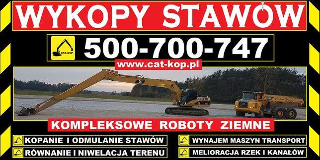 Kopanie i Odmulanie Stawów CAT-KOP Kompleksowe Roboty Ziemne