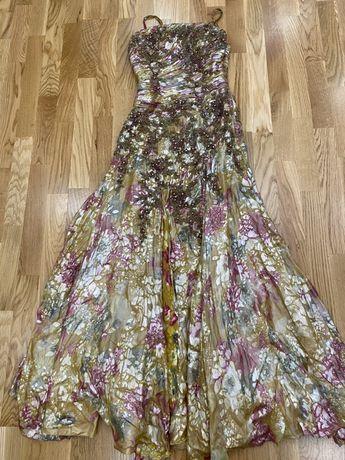 Платье в пол , сукня , сарафан S нарядное