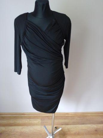 Czarna sukienka ciążowa karmienie