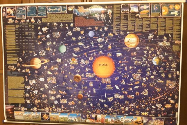 Mapa ścienna dla dzieci - Mapa Świata/Europy oraz Układ Słoneczny