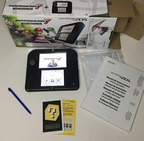 Nintendo 2DS Preta e Azul nova em caixa