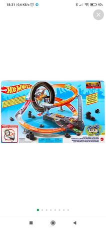 Трек, дорога, ігровий набір Hot Wheels (Перегони в шиномонтажній