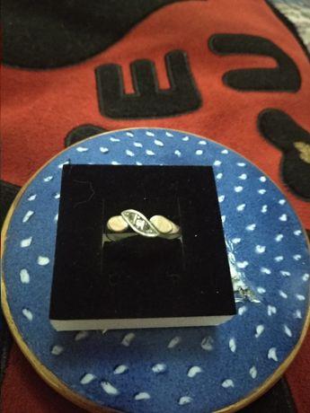 Anel em prata antiga e ouro